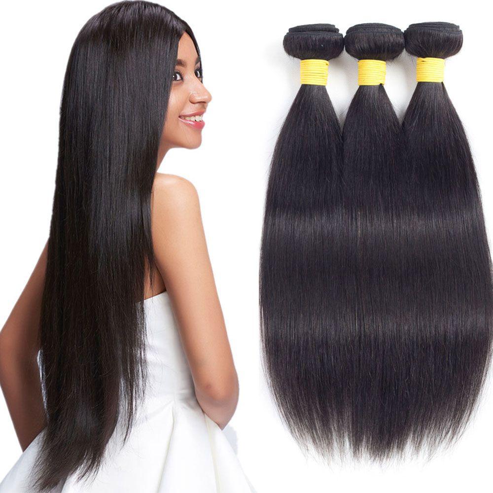 Grace Length 8a Malaysian Straight Of Human Hair 3 Bundles