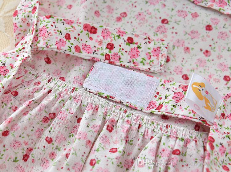 Pet Dog Shirt Skirt Dog Floral Cloth Puppy Bow Dress Size XS S M L XL