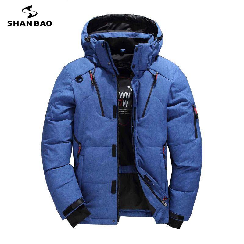Acquista SHANBAO Marchio Di Moda Casual Piumino Nero Verde Blu Arancio  Inverno Caldo Bianco Piumino Da Uomo Giacca Con Cappuccio A  88.42 Dal  Geraldi ... 706c4fd07cc6