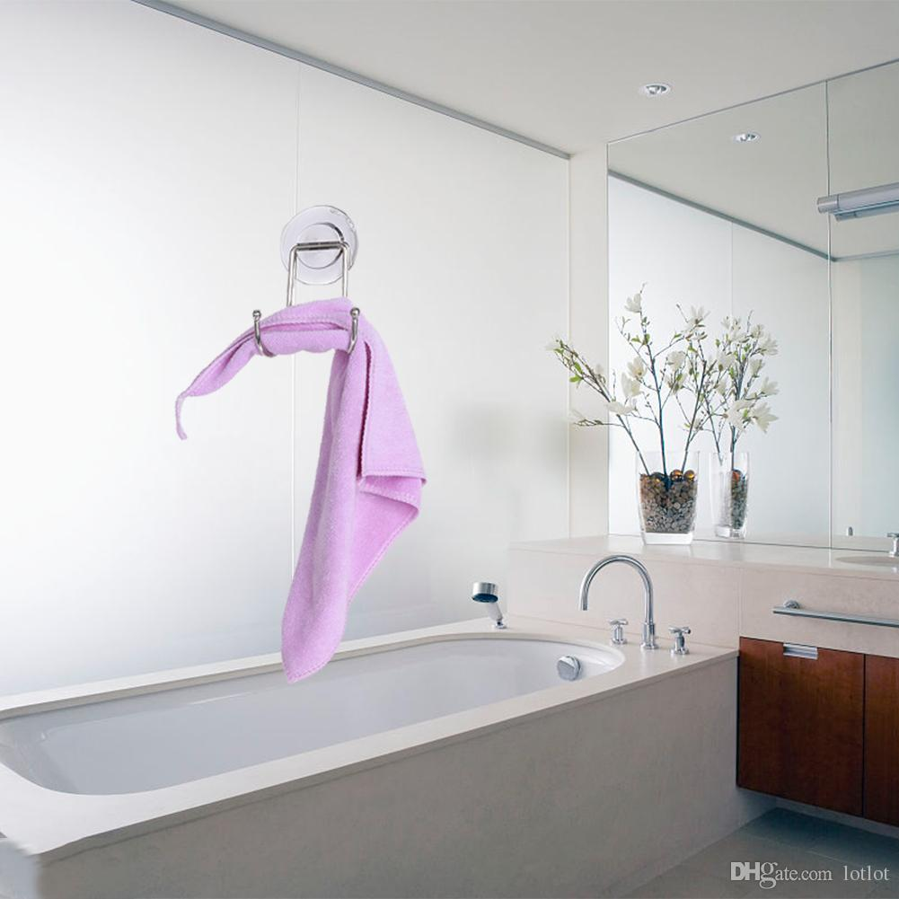 Super Powerful Removable Vacuum Suction Cup Swivel Double Wall Hook Bathroom Kitchen Holder Hanger for Towel 12 X 8 X 7.5cm E5M1