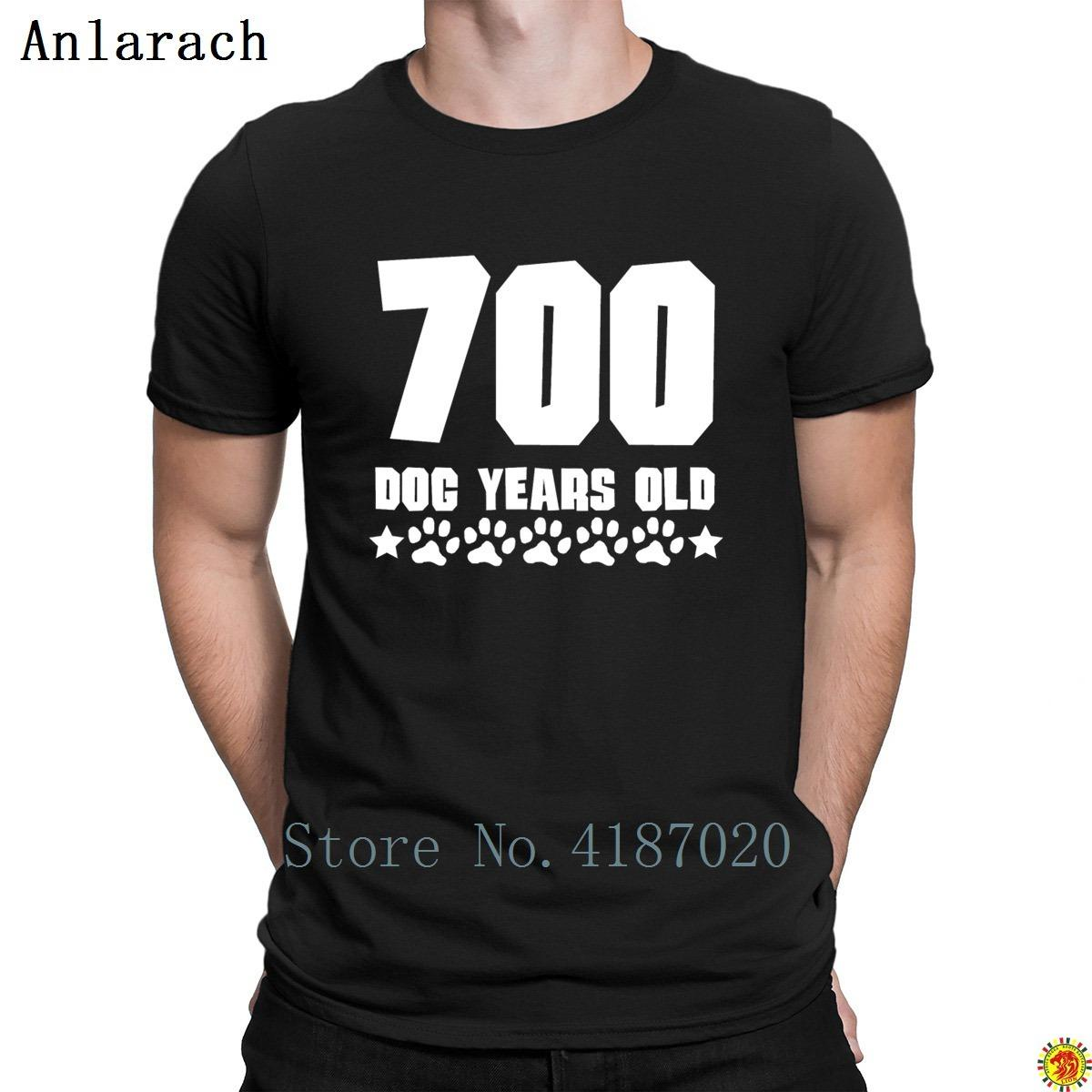 700 Dog Years Old Funny 100th Birthday Tshirt Creative Round Collar Summer Gents MenS Family Fitness Breathable Formal Tee Shirt Of The Day Link