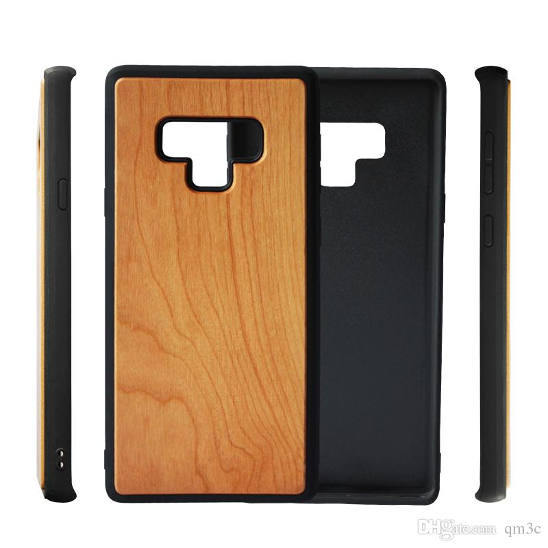 new product fd93c 34192 Hot sale Design Wood Case For Samsung Galaxy Note 9 note 8 s9 s8 plus note9  anti-knock Wooden Bamboo Tpu Phone Cover Mobile For Iphone X 7 8