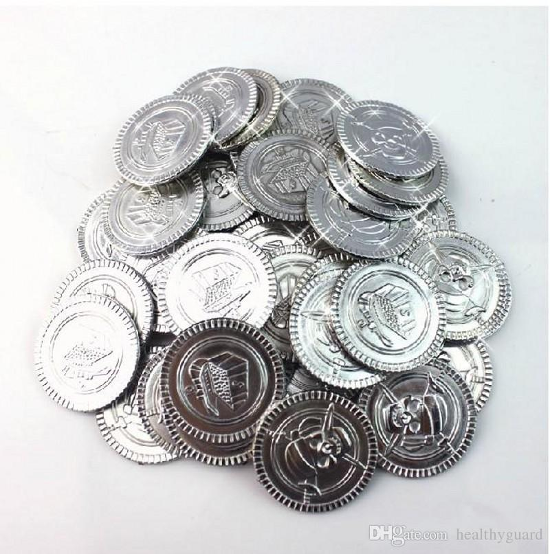 /bag New Arrival Pirate Styles Fake Gold Coins Game Shows Props Party Supplies