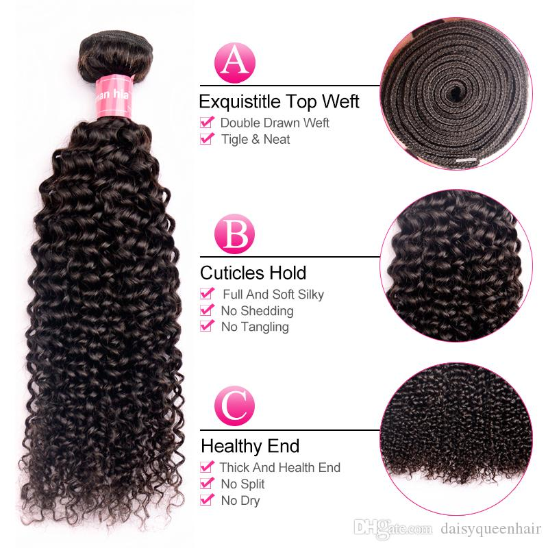 Malaysian Kinky Curly Hair Grade 8A Virgin Uprocessed Human Hair Bundles Natural Color Cheap Malaysian Hair Curly Weave 8-28 inch