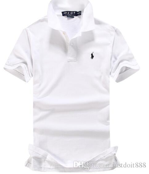 New Brand Small Horse Embroidery Polo Shirt Men Short Sleeve Casual