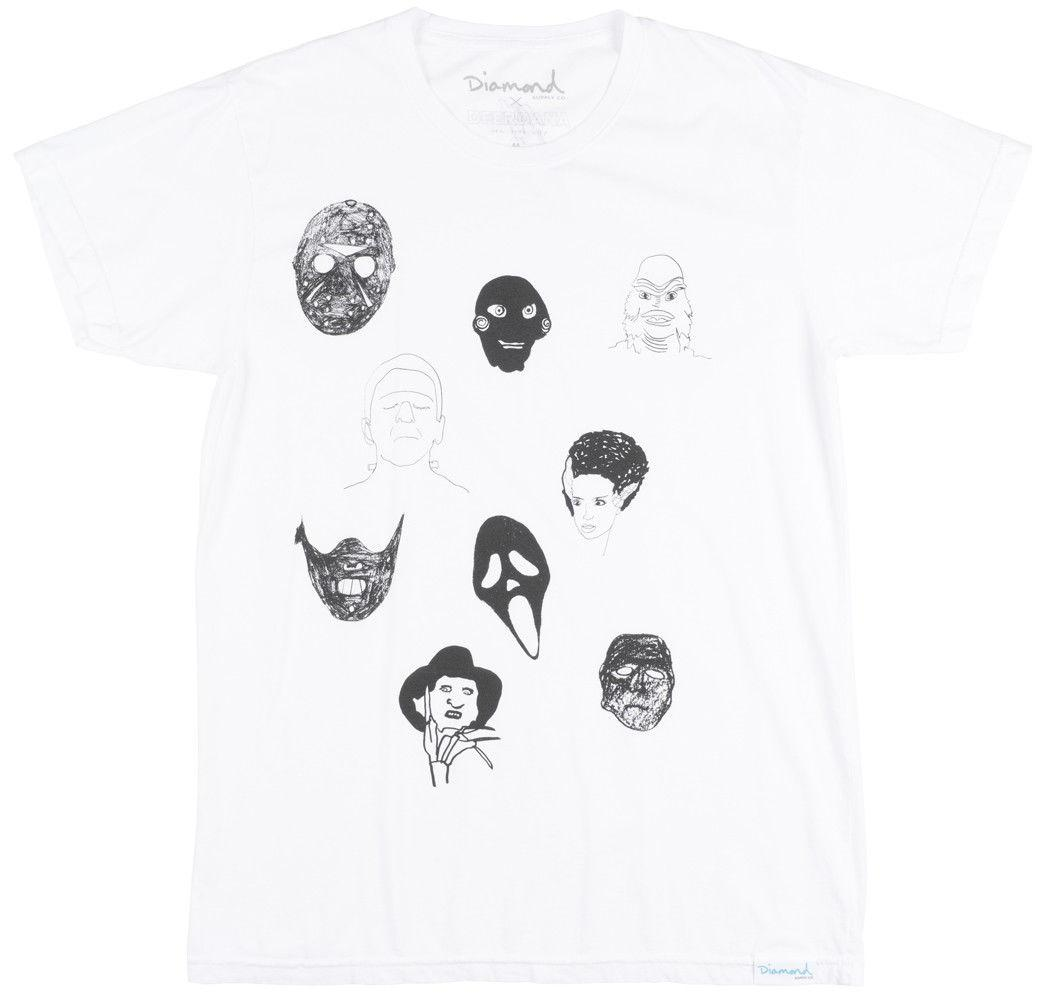 a232a90f Diamond Supply Co X Deerdana Killer Faces T Shirt Skate Top Mens WhiteFunny  Unisex Casual Gift Cool T Shirt Buy Shirts Online From Justtheshirt, ...