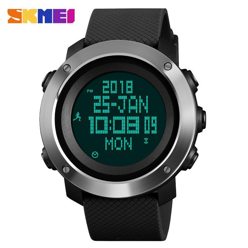 a2a95dd2914 Compre SKMEI Brújula Reloj Deportivo Para Hombre Relojes Digitales Moda  Podómetro Metrónomo Hombre Exterior Reloj De Pulsera Reloj Top Erkek Kol  Saati A ...
