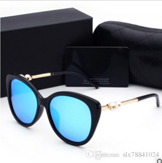 35ce3759c6f Pearl Trend Paragraph Big Frame Sunglasses Star Zhou Xun with the ...