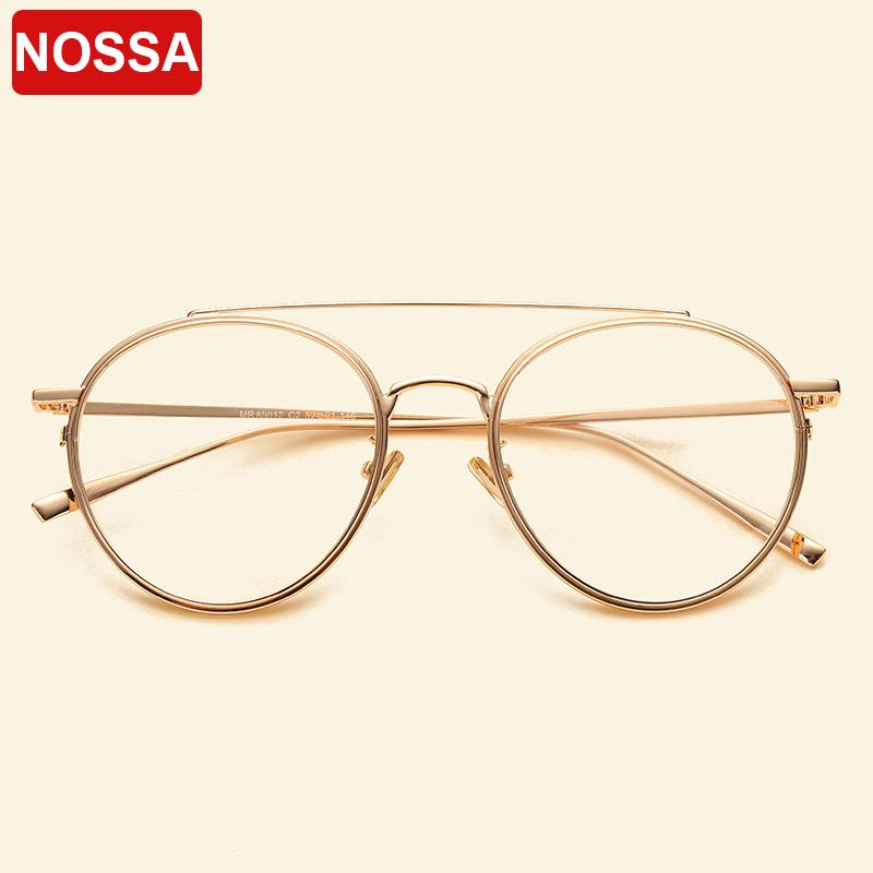 3f0226f5fb 2019 NOSSA Brand Big Frame Retro Metal Glasses Frames Men Women Myopia  Optical Frame Clear Lens Casual Spectacles Students Eyeglasses From  Haydena