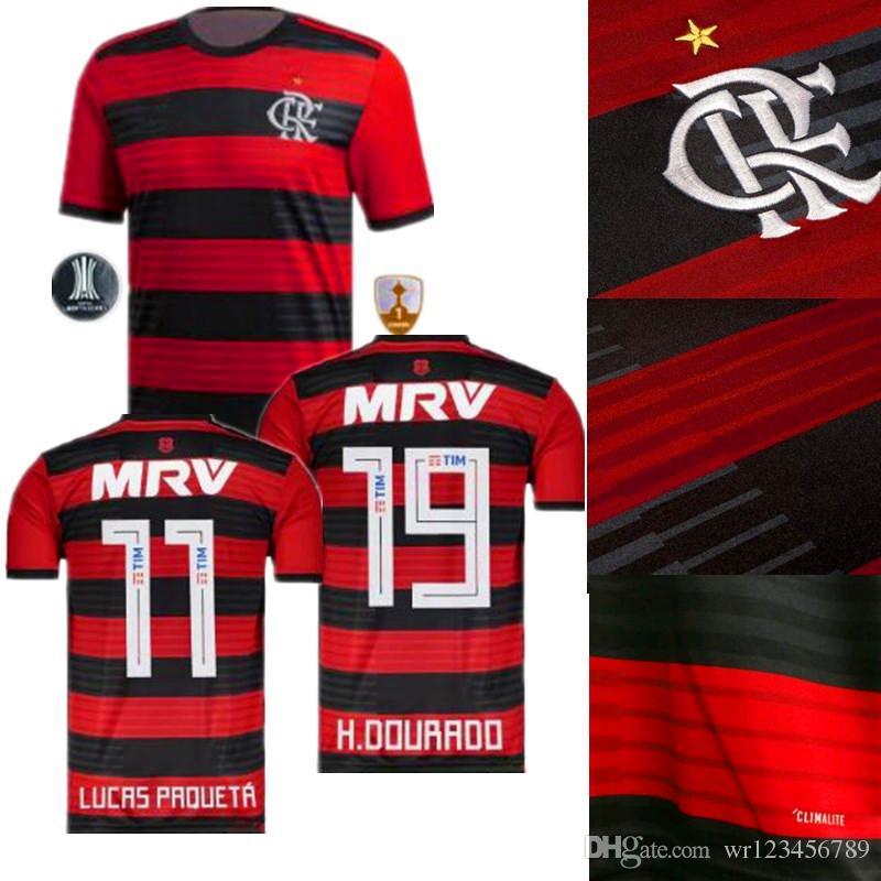 7ae1ae7756 Flamengo Soccer Jersey 18 19 Flamengo Home Camisa De Futebol ...