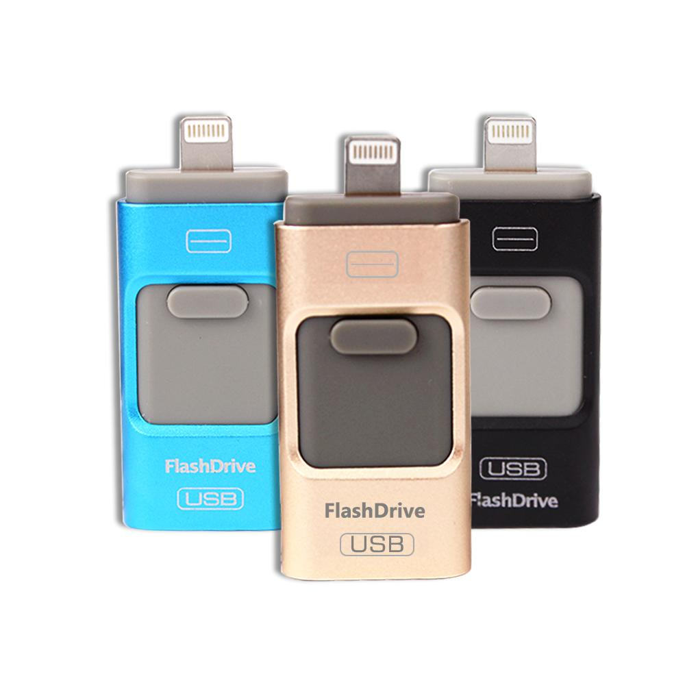 Flash haute vitesse Lightning 3 en 1 clé USB flash USB 64GB32GB16GB8GB pour iPhone 5 / 5s / 5c / 6s / 6 Plus clé USB