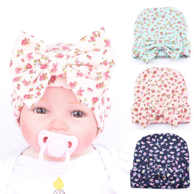 Compre 2018 Bebé Recién Nacido Sombrero Del Bebé Niñas Otoño ...