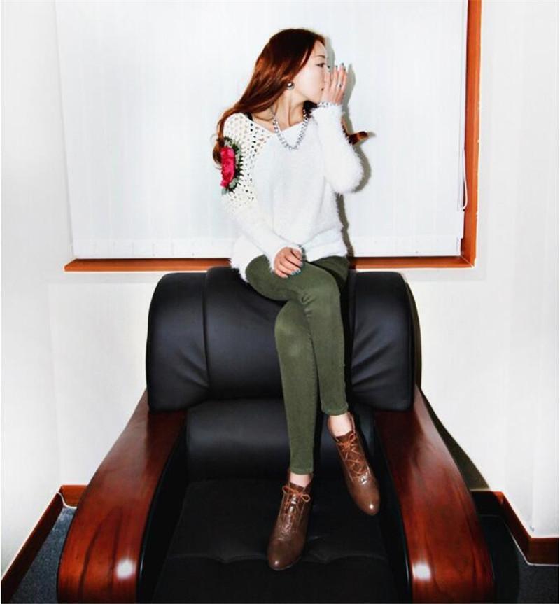 Frauen Mohair pullover Herbst Winter Russland China stil Lose Große größe rose blumen stickerei strickpullover Schräge kragen Spitze Hohl Niedlich