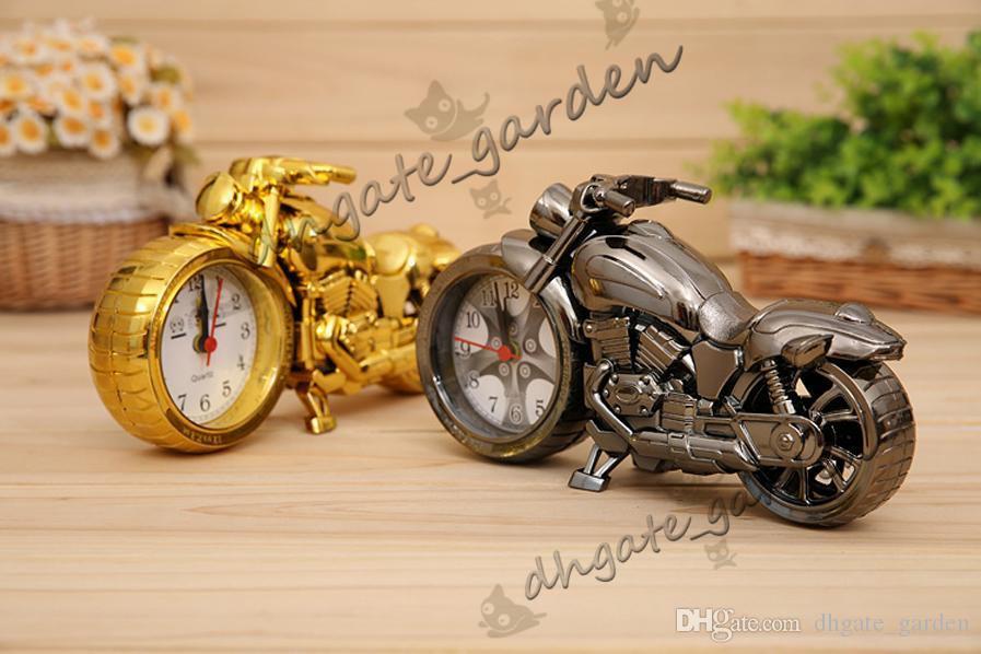 دراجة نارية المنبه الديكورات المنزلية المنبه رائع نموذج دراجة نارية المنبه الإبداعية الرجعية هدية ديكور أطفال الأطفال هدية