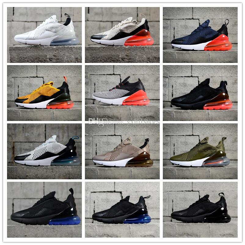 discount sneakernews New 2018 270 Flair Knit Fly Triple Black Trainer Casual Running Shoes for Good quality 270s Black White Men Women Athletic Sneakers 36-45 cheap sale outlet locations explore sale online k2m8Ll4jV