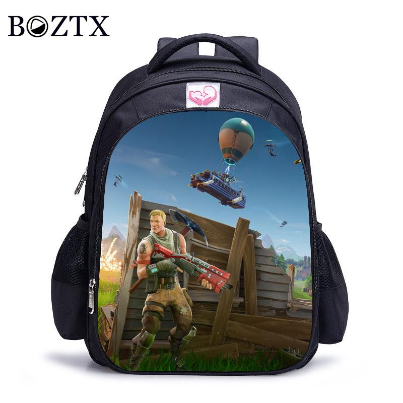 Children Schoolbag Kindergarten Backpack Boy Cute Fortnite Cartoon ... 24a229f7e584f