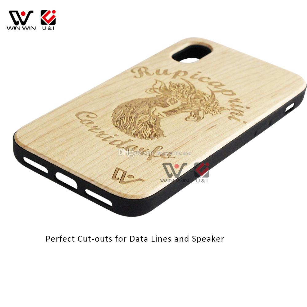 Universal wooden cell phone case for iPhone x 6 7 8 6plus 7plus 8plus i6 i6s plus luxury back cover for i Phone