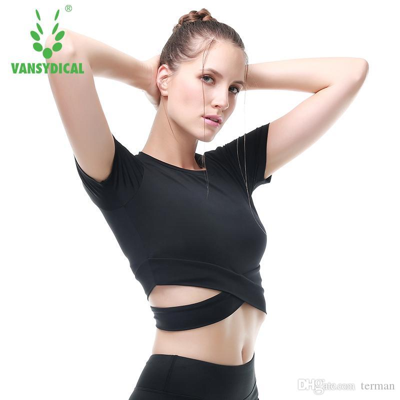 Best Exposed Navel Yoga Tops Shirt Fitness Gym Workout Xl Short