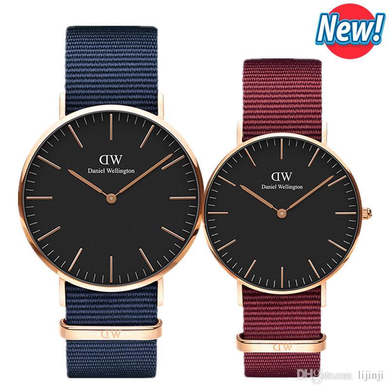 2aa6c9e14 New Fashion Brand Daniel Watches 40mm Men Watches 36mm Women Watches Montre  Homme Luxury Quartz Watch D- Relogios Masculino Reloj Mujer Watches Women  Women ...