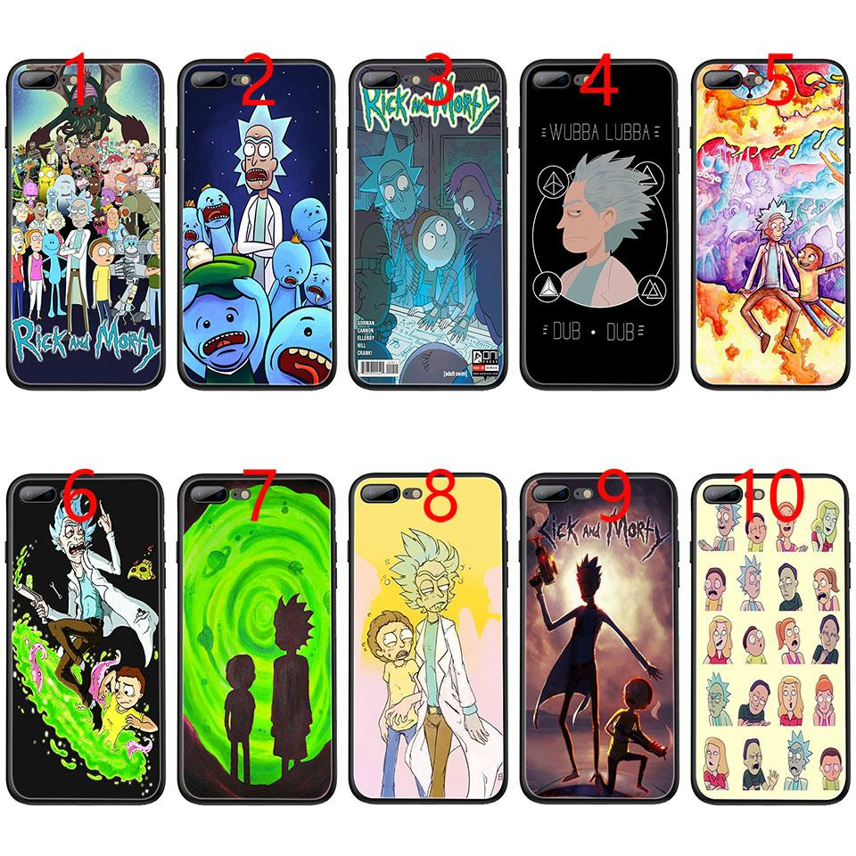 Rick and Morty Season Soft Black TPU Phone Case for iPhone XS Max XR 6 6s 7  8 Plus 5 5s SE Cover