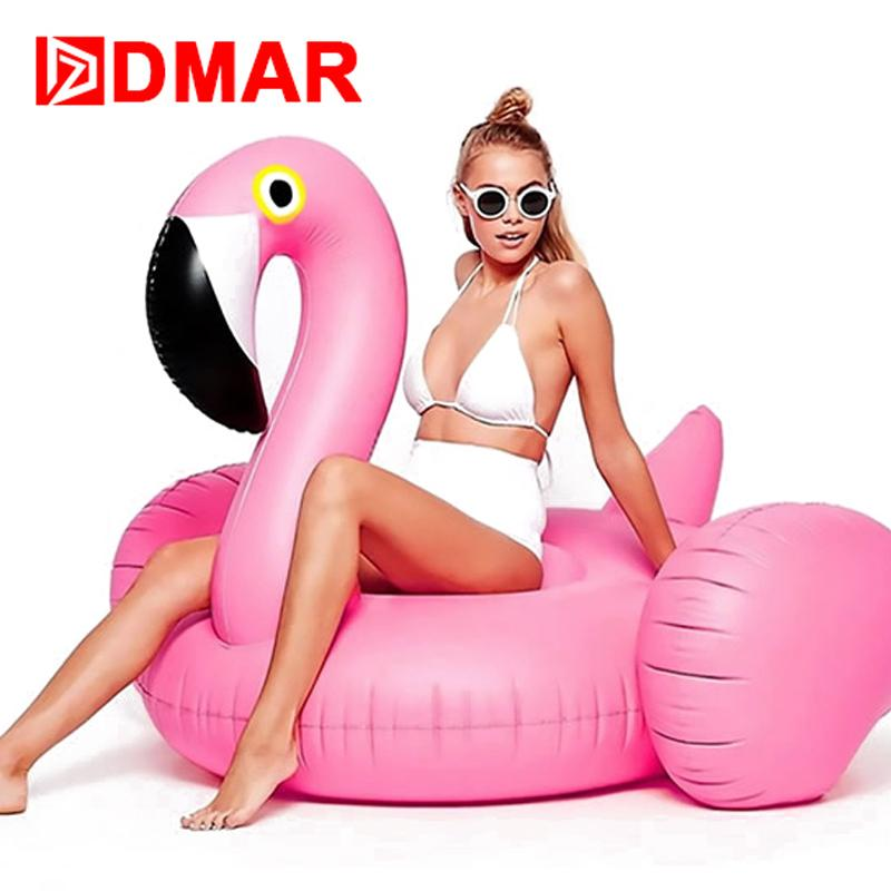 190cm Pool Float Inflatable Boat Golden Swan Swimming Float Adult Swim Air Mattresses Ring Summer Water Toy With Pump Sports & Entertainment