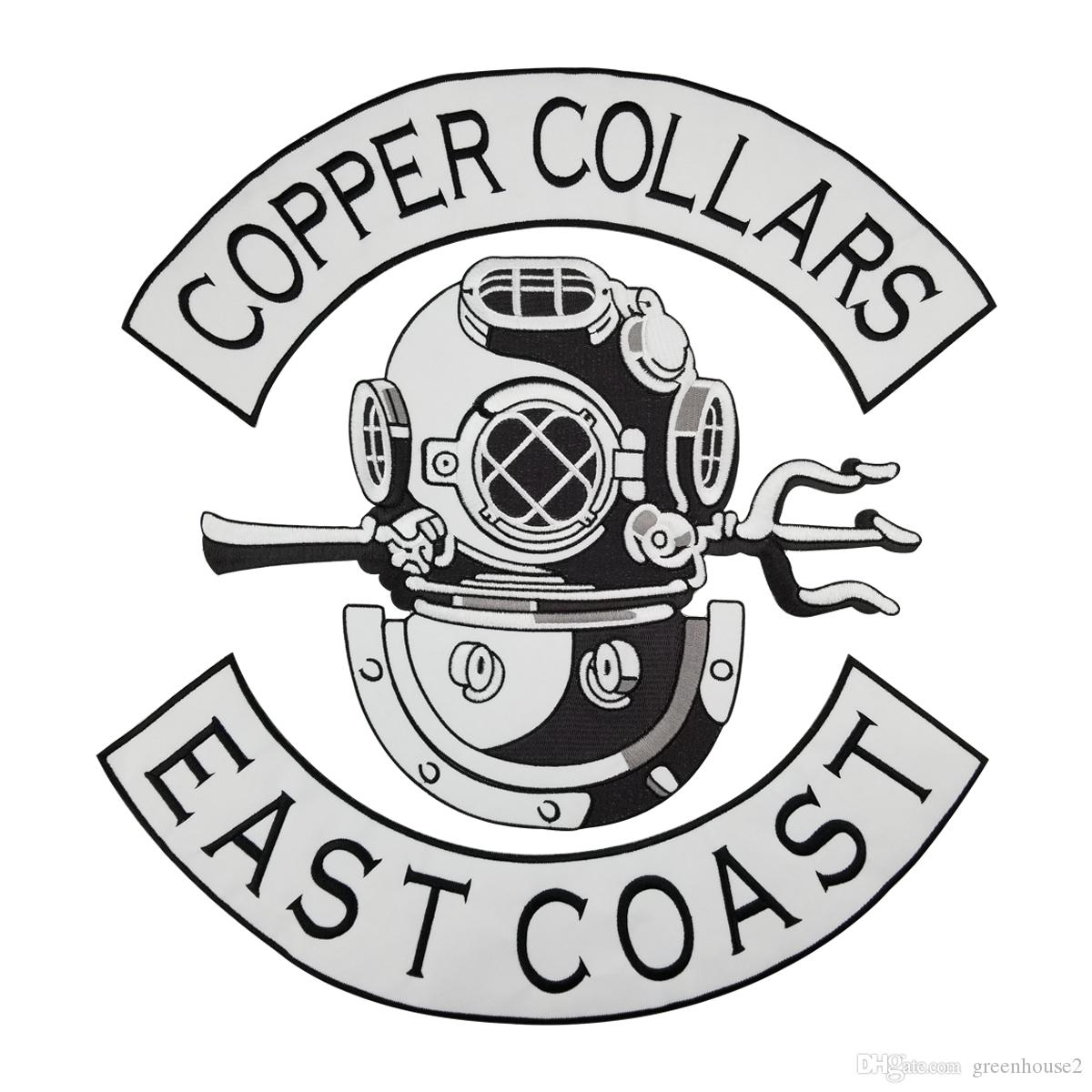 2018 Copper Collars East Coast Patch Punk Mc Embroidered Full Back