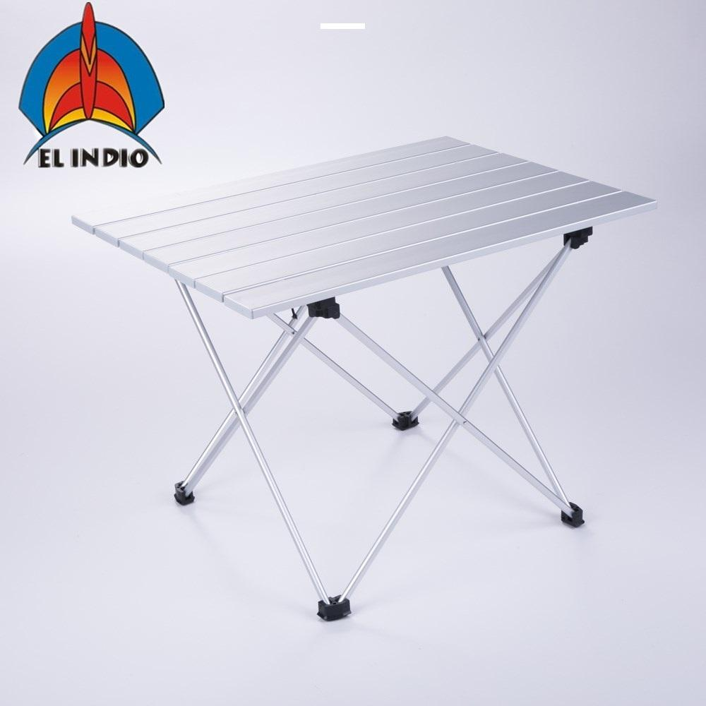 ba1416a6be9 Small Size Aluminum Folding Collapsible Camping Table Roll Up With Carrying  Bag For Outdoor Picnic