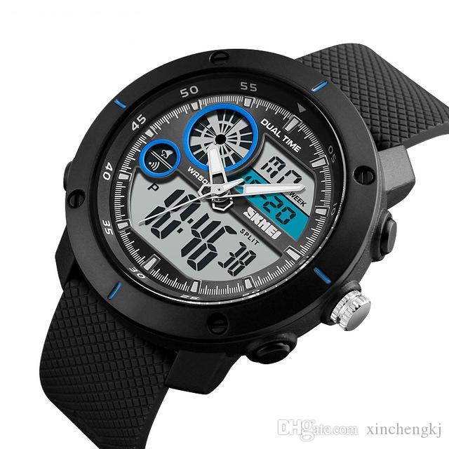 68e35a8365ff Compre SKMEI 1361 Reloj De Los Hombres Militares Reloj Deportivo A Prueba  De Agua Para Hombres Relojes De Primeras Marcas Electrónica LED Reloj De  Pulsera ...