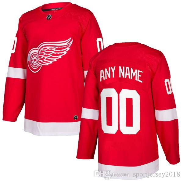f2de3982f65 Acquista 2018 Spedizione Gratuita NHL Detroit Red Wings HOCKEY Maglie Nuove  In Vendita T Shirt Da Uomo Hockey Jersey Su Misura Articolo Taglia M L XL  XXL A ...