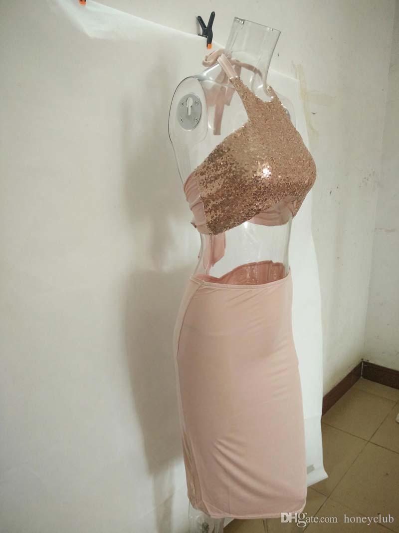 two piece bodycon dress