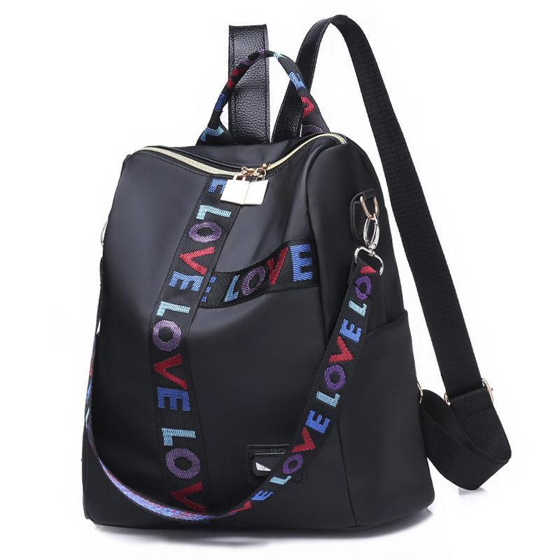 Brand Women Backpack Nylon School Backpacks For Teenage Girls ... a5b5c995b27de