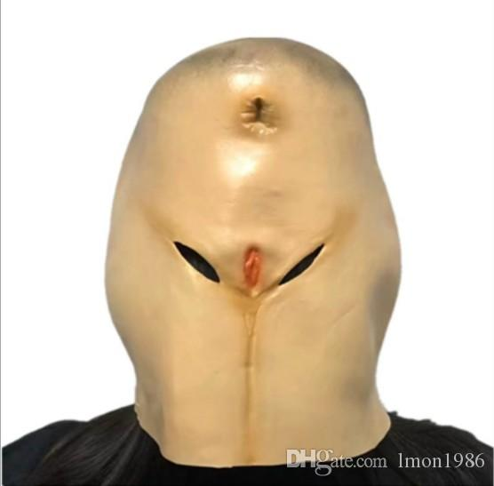 New Mask Personalized Funny Ass Latex Masks Halloween Adult Dance Horror Head Buns Party Decorating Funny Full Face Mask