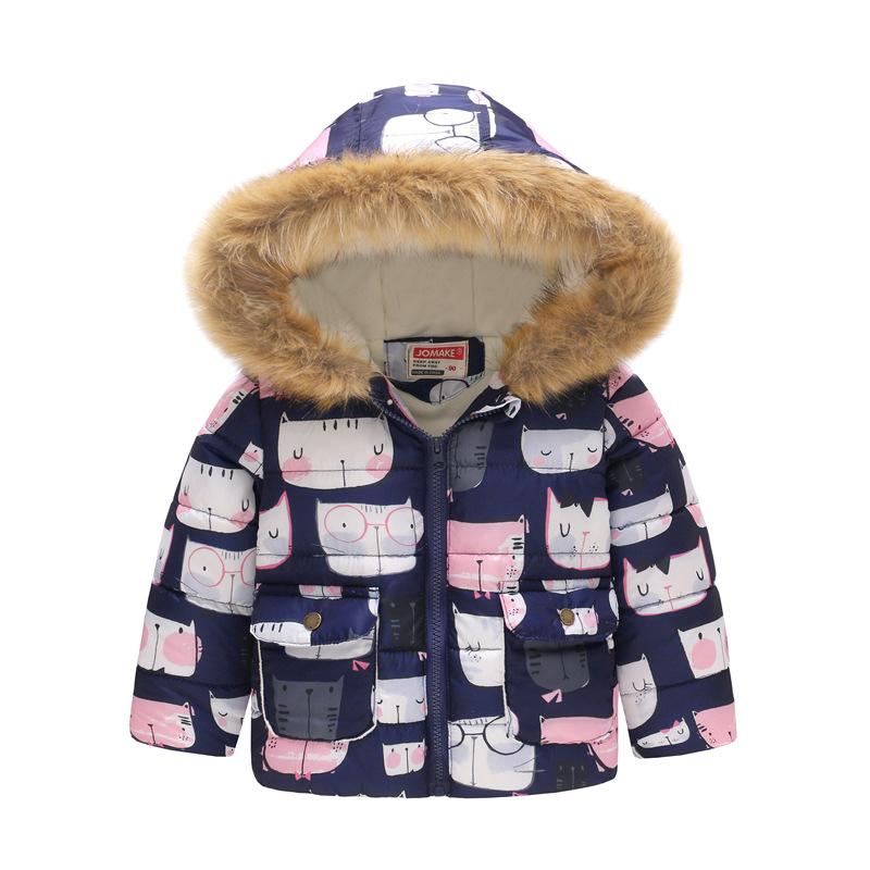 f6d97b28a 1-6Yrs Children s Thicken Winter Coat Newborn Baby Cute Printing ...