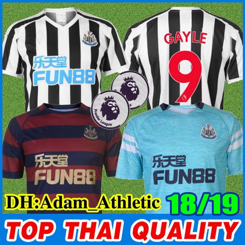 innovative design 74c01 d1b45 18 19 Newcastle United soccer jerseys 2018 2019 home away RONDON ATSU  SHELVEY DIAME AYOZE PÉREZ SCHAR MUTO football jerseys uniform shirt
