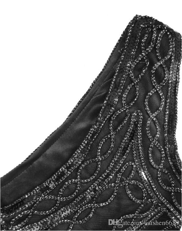 New Fashion Sequins Handwork Weave Tassel Evening Dress Women 2018 HighPoint Elegant Bodycon Dresses Black Sexy The Club Party Dresses