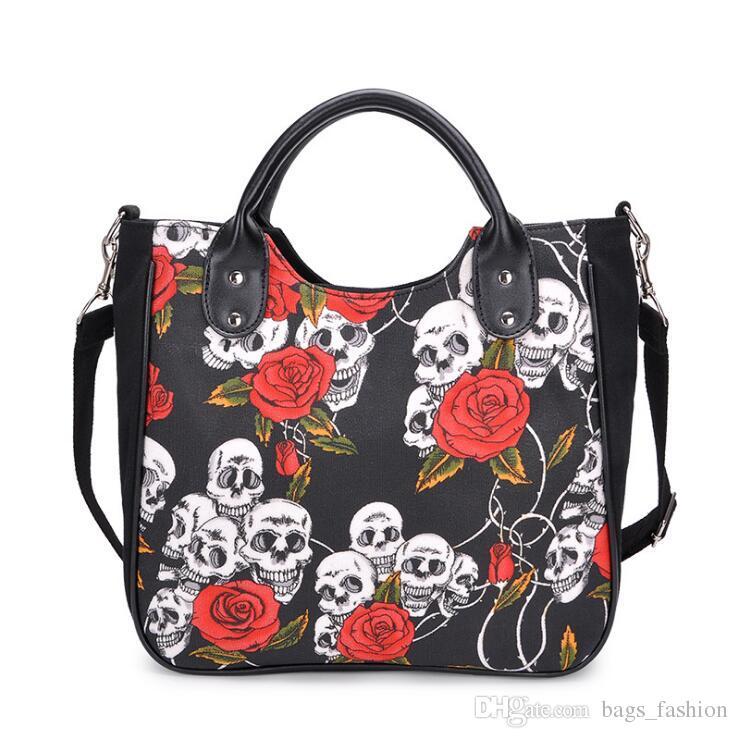 efb1bd1bccb5 Fashion Handbag Bag Female Solid Bags For Women Zipper Women Skull ...