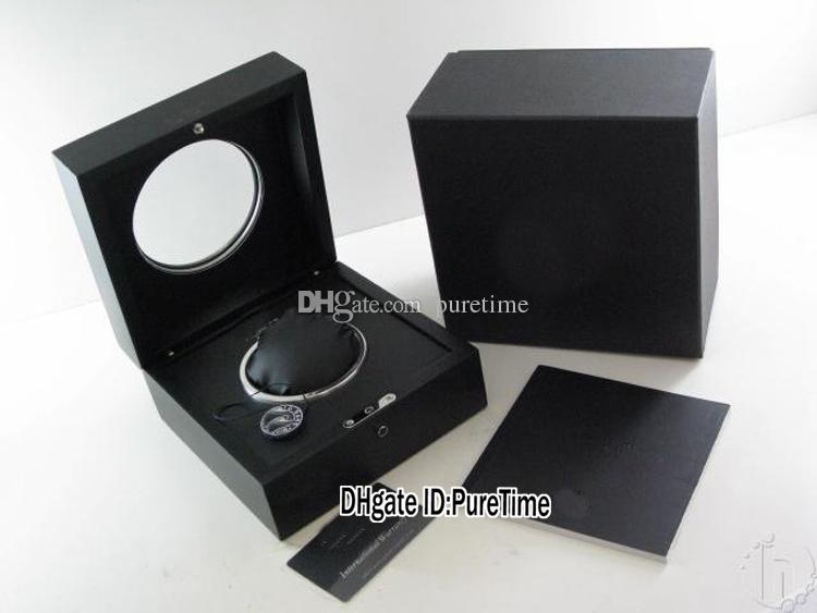 New Black Wooden Glass Sunroo Wooden Watch Box Wholesale Original Mens Womens Watch Box With Certificate Card Gift Paper Bag HUBBOX Puretime