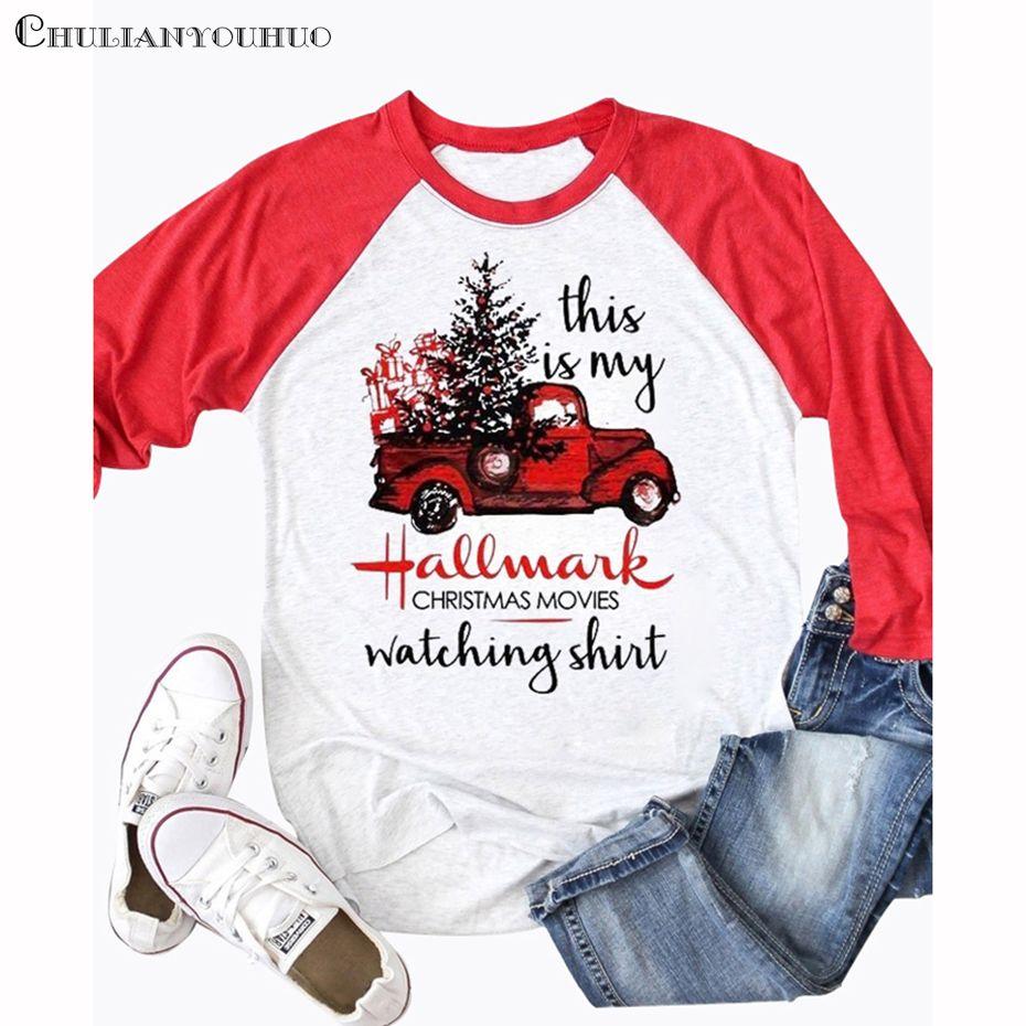 Filme Weihnachten 2019.Dies Ist Mein Markenzeichen Weihnachten Filme Shirt Raglan 3 4 ärmel Lustige Baseball Tshirt 2019 Kleidung Casual Niedlichen Weiblichen T Shirt