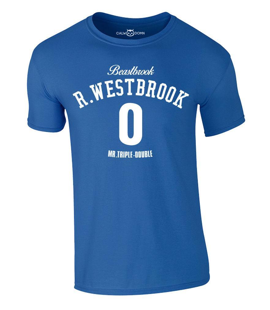 size 40 8c2ce 7adfa Details zu Russell Westbrook T-Shirt Beastbrook Mr.Triple-Double OKC  Thunder Jersey S-XXL