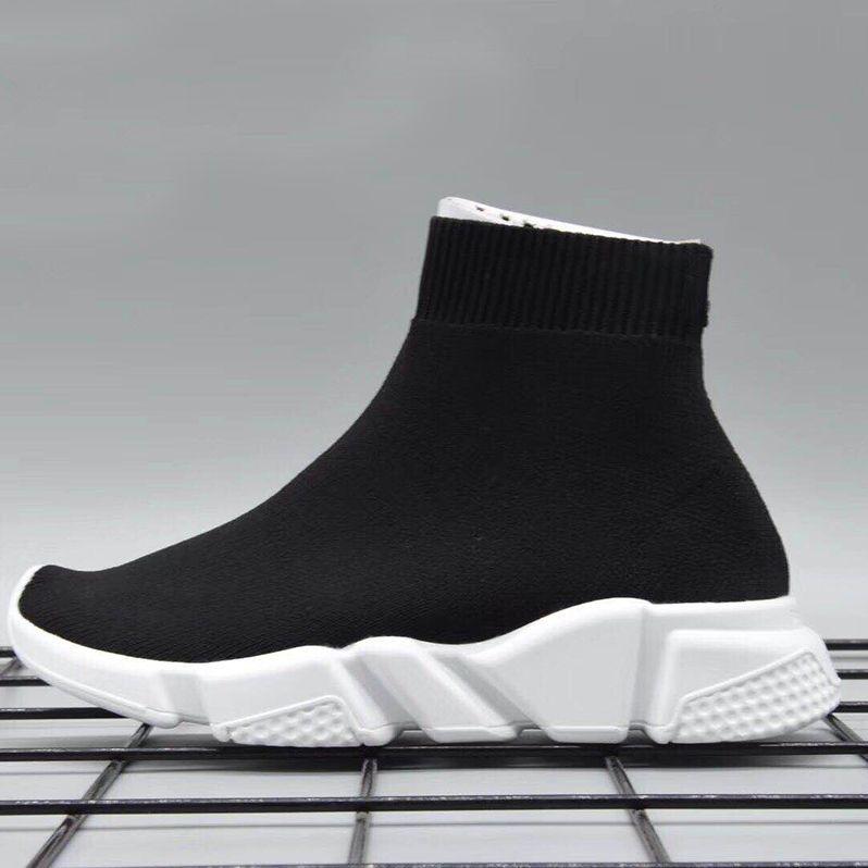 7de06b3eea9dc Kids Luxury Paris Speed Trainer Boys And Girls Fashion Stretch Mesh High  Top Sneaker Knit Sock Running Shoes Size 24 35 Running Shoes Women Running  Shoes ...