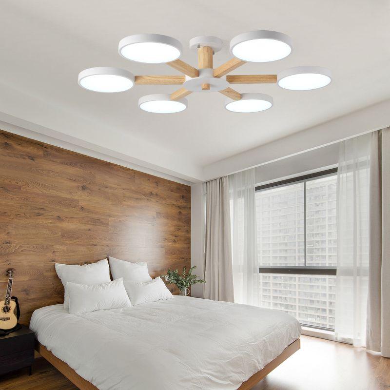Deckenleuchten für Wohnzimmer LED Moderne Wohnzimmer Schlafzimmer Innen  Lampe Design Kunst Kreative Holz Eisen Dekoration