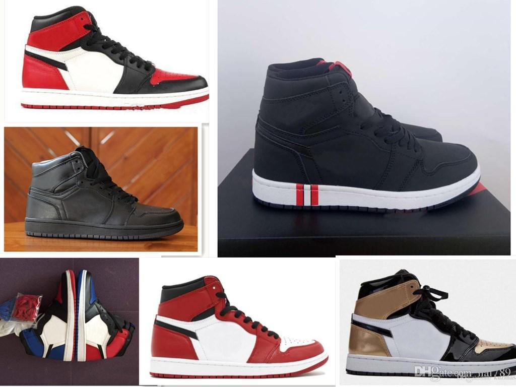 f9fd2c859665eb Mens 1 OG Top Men Basketball Shoes OG Sneakers Black Paris Mandarin Duck  Trainers Mens Sport Sneakers Shoes Size 7 13 Designer Shoes Sneakers For  Women From ...