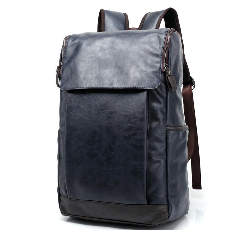 26f2307af906 2018 Brand Men Backpack Leather Male Functional Bags Men Waterproof ...