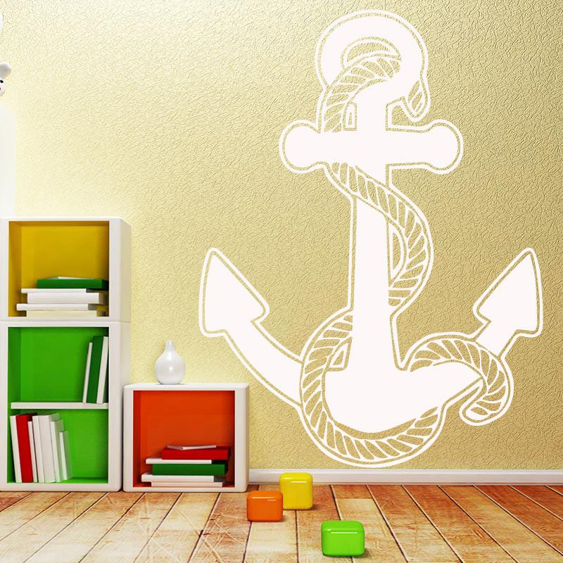 Boat Anchor Pattern Wall Sticker Self Adhesive Vinyl Waterproof Wall ...
