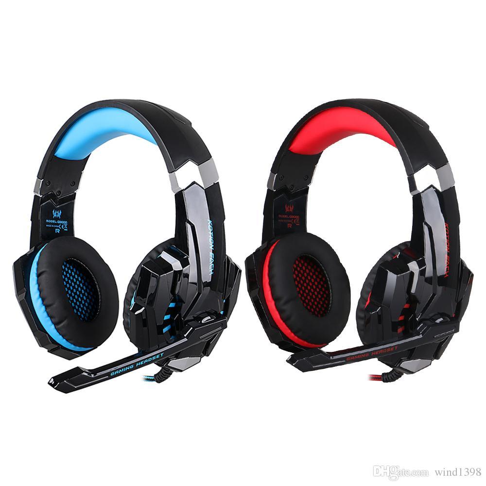 48f7b4998b7 Compre KOTION CADA G9000 Game Gaming Headset PS4 Auriculares Gaming  Headphone Con Micrófono Mic Para PC Portátil PlayStation 4 PS4 Gamer A  $18.5 Del ...