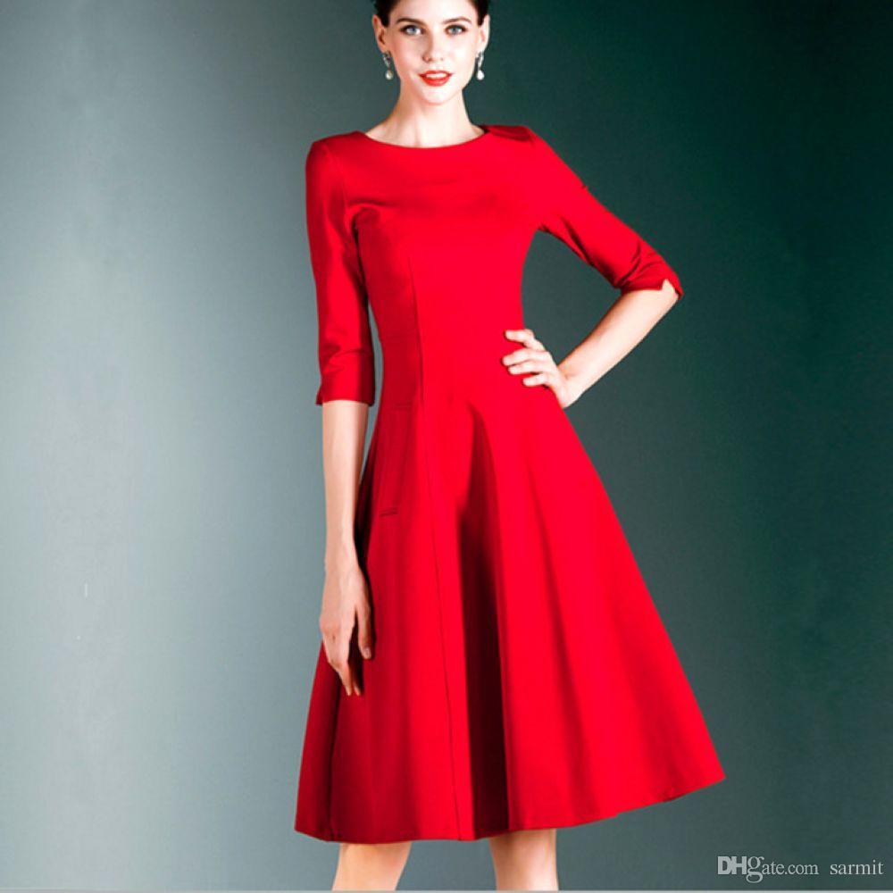 Retro kleider rot