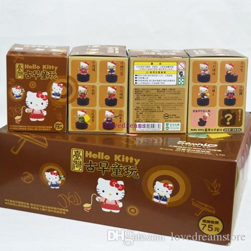 Anime Hello Kitty Action Figures Chinese Traditional Sports Ver. Kitty Cat Kids Toys for Kids Phone Accessories