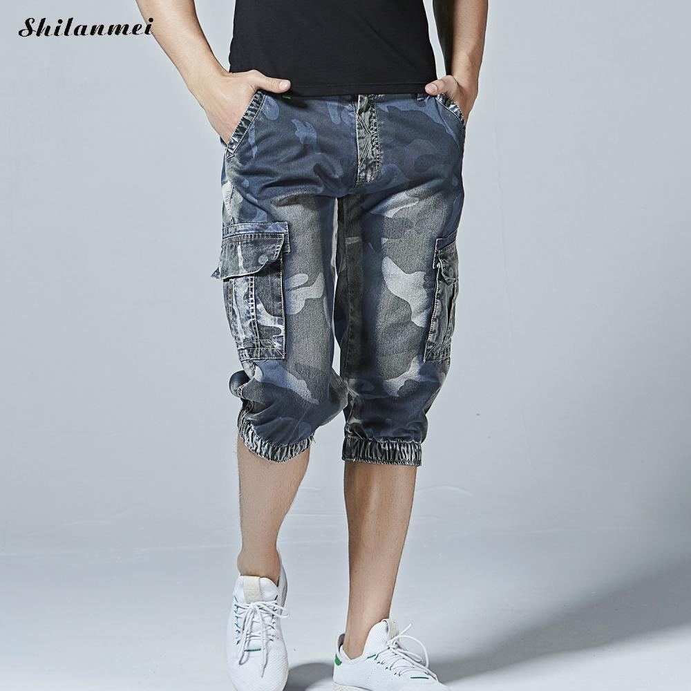2019 Men Blue Camouflage Cargo Shorts Summer Hot Sale Casual Men Short Pants  Brand Clothing Comfortable Camo Cargo Shorts 40 From Redbud03 872532cfb4d