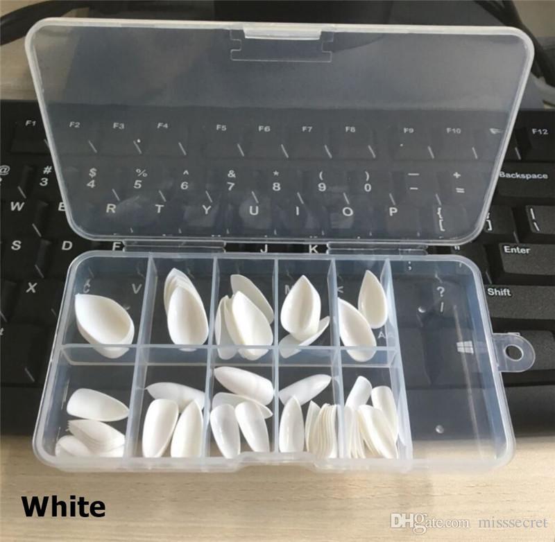 / set накладные ногти Акриловые ногти белый бежевый ясно поддельные ногти короткие длинные DIY искусственные советы искусства ногтя с розничной коробкой