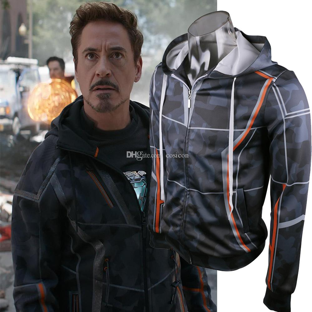2018 movie avengers 3 infinity war iron man hoodies costume tony stark jackets coats halloween cosplay costume 3 person halloween costume cute group